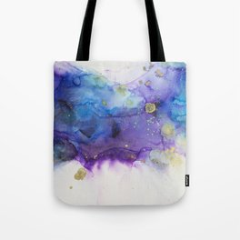 Make a Wish Alcohol Ink Painting Tote Bag