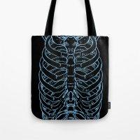 skeleton Tote Bags featuring Skeleton by Robbie Drew Dixon