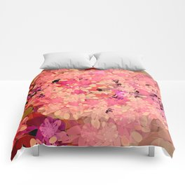 Two Different Worlds -- Floral Pattern Comforters