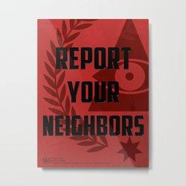 Dystopian propaganda Metal Print