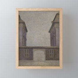 Vilhelm Hammershøi - The Buildings of the Asiatic Company, seen from St Annæ Gade Framed Mini Art Print
