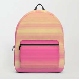 Pink Yellow Gradient Stripes Backpack