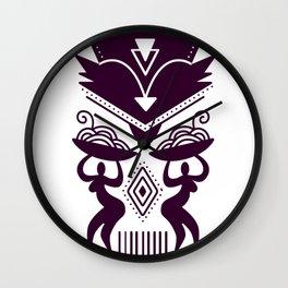 Tribal Abstract Wall Clock