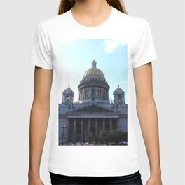 Isaac Cathedral dome facade with bell towers T-shirt