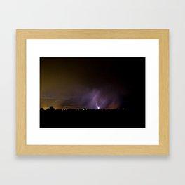 Idaho Lightning Show Framed Art Print