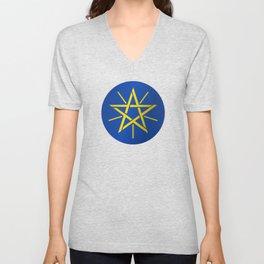 Ethiopian Star Unisex V-Neck