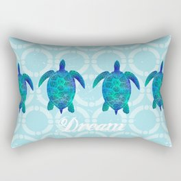 Turtle dream dreamer summer, illustration original painting print Rectangular Pillow