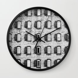 Holes In A Wall Wall Clock