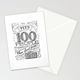 Feed just one Stationery Cards