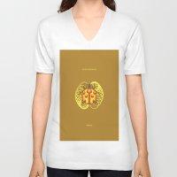 jojo V-neck T-shirts featuring GOLD EXPERIENCE - PRINCE - JOJO -  by Mirco Greselin