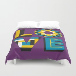 LOVE - Purple Duvet Cover