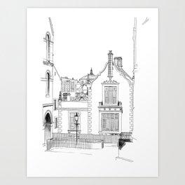 Edinburgh city sketch Kunstdrucke