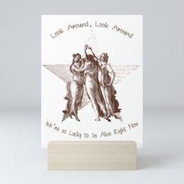 Look Around Parchment Mini Art Print