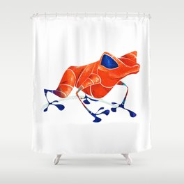 Poison Dart Frog Shower Curtain