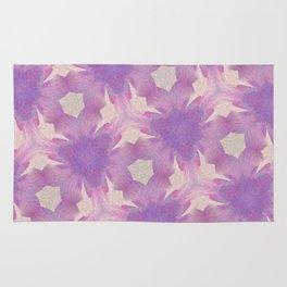 Geometric Floral Design - Purple Rug