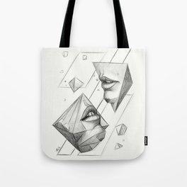 Surreal Geometry Shapes Tote Bag
