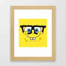 Spongebob Nerd Face Framed Art Print
