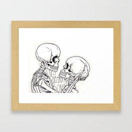 I feel you in my bones. Framed Art Print