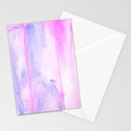 Pink and purple abstract watercolors Stationery Cards
