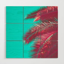 Neon Palm Wood Wall Art