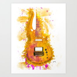 Prince's electric guitar Art Print