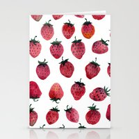 strawberry Stationery Cards featuring Strawberry by Tanya_Vazh