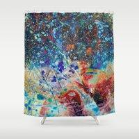 splatter Shower Curtains featuring Splatter by Stephen Linhart