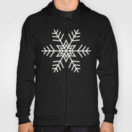 Snowflake Pattern | Black and White Hoody