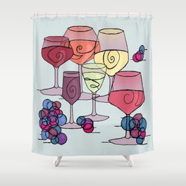 Wine and Grapes Shower Curtain