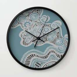Just a Squiggle Here and There Wall Clock