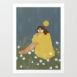 Sun don't shine Art Print