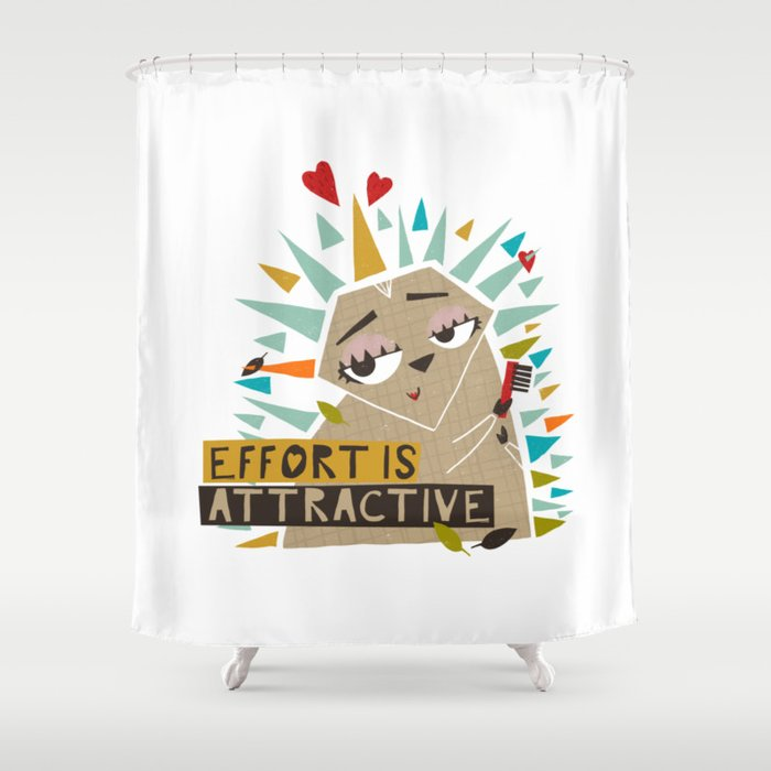 The Attractive Hedgehog Shower Curtain