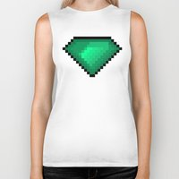 diamond Biker Tanks featuring Diamond by eARTh