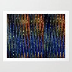 Wellen Strand Meer - Muster Art Print