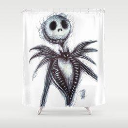 Jack Skellington scribble Shower Curtain