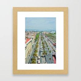 Barcelona from above Framed Art Print