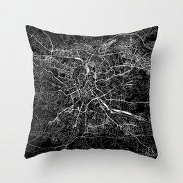 Krakow Black Map Throw Pillow