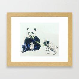 Pug and Panda Framed Art Print