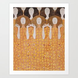 Beethoven Frieze by Gustav Klimt Art Print