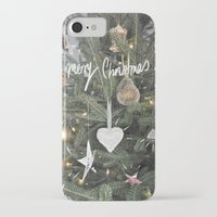 christmas tree iPhone & iPod Cases featuring Christmas Tree by Tamsin Lucie