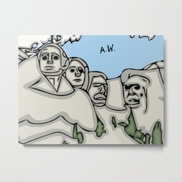 Mount Rushmore Metal Print