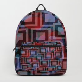 Black and White Squares Pattern 04 Backpack