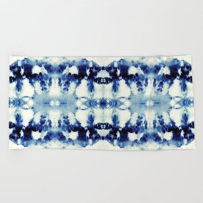 Tie Dye Blues Beach Towel