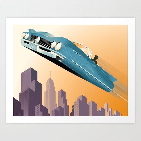 Dude, Where's My Flying Car? Art Print