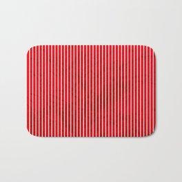 Red grunge stripes on white background Bath Mat