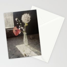 papavero kon soffione Stationery Cards