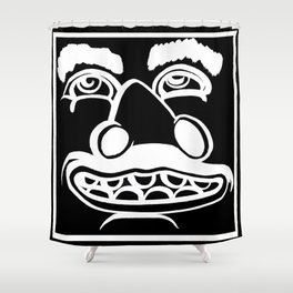 Happy and Skruzzy Shower Curtain