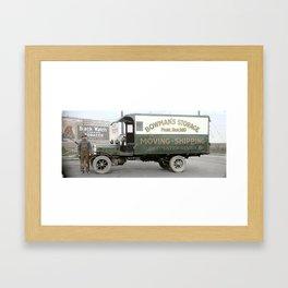 Bowman's Storage Truck, Vancouver, BC c.1918 Framed Art Print
