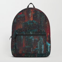 Cyberpunk Noir City Backpack