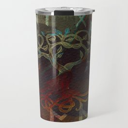 Tree of life  -Yggdrasil - and runes Travel Mug